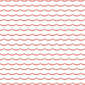 white and coral scallop pattern