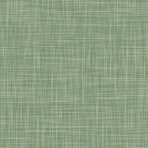Solid Linen - Dark Green (Monkeys) -  Linen Texture