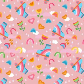 Rollerskate Love Pink