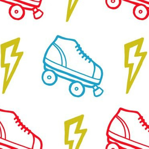 Lightning-Fast Retro Roller Skates