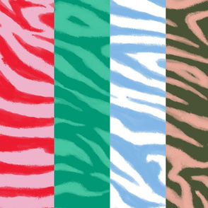 Zebra Sketch Stripes Large (Multicolor)