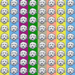 Doodle dog fabric - goldendoodle, labradoodle, aussiedoodle, bernedoodle