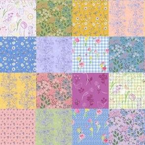 Spring Palette Patchwork Quilt