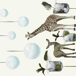 Cute antelope and giraffe Wall Hanging
