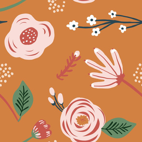 orange_flowers_grey_seaml_stock