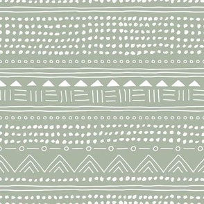 Minimal boho linen mudcloth bohemian mayan abstract indian summer love aztec design sage green