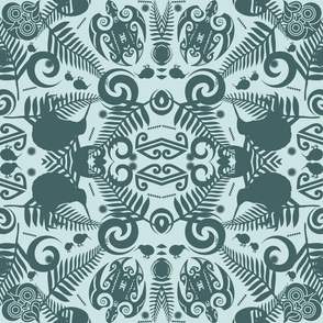 Kiwi Damask in a limited palette