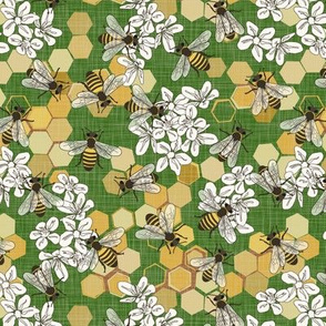 Save The Honey Bees - Bright Green - Small