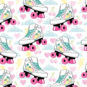 ☆ 80s roller skates & pixel stuff nostalgia ☆