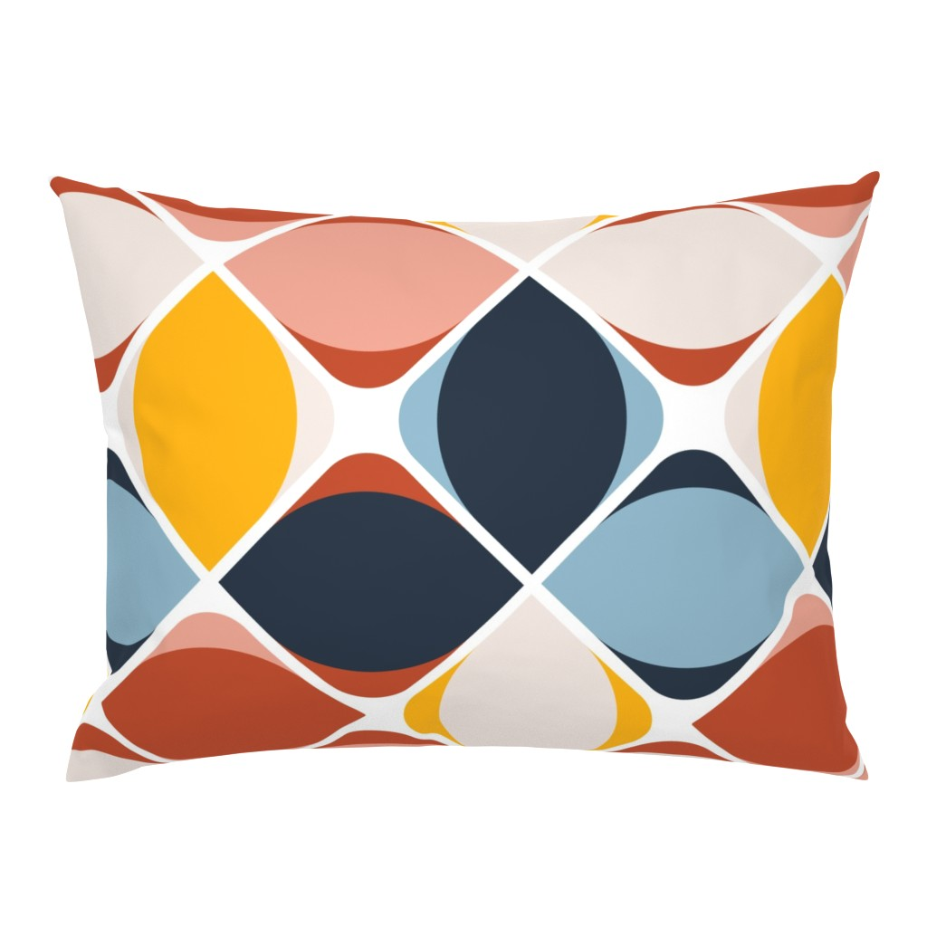 Campine Pillow Sham featuring warm geo eye flowers by flossiesgrand
