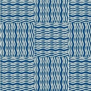 basket weave classic blue