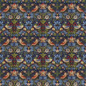 William Morris ~ Strawberry Thief ~ Bright  Blue ~ Small