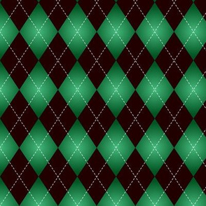 Black and green Argyle