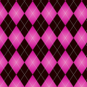 Black and pink Argyle