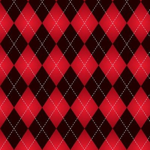 Black and Red Argyle with gradient