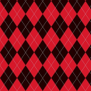 Black and Red Argyle