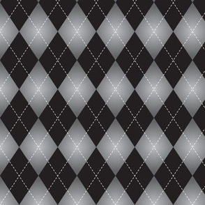 gray and black Argyle