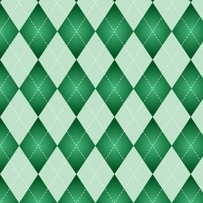 green and light green Argyle