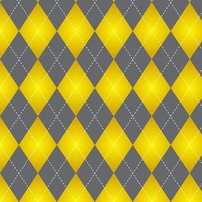 yellow and gray Argyle