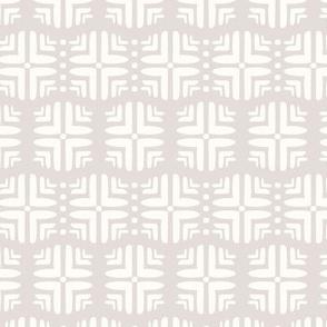 Geometric Honeycomb in Heather Gray