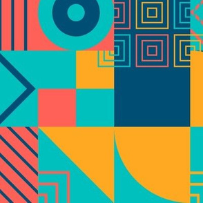 Bauhaus block party - bright small