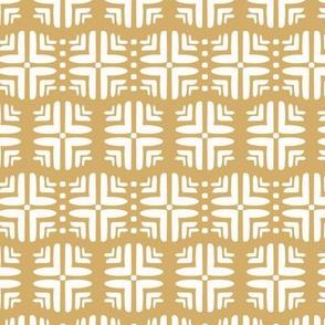 Geometric Honeycomb in Mustard Yellow