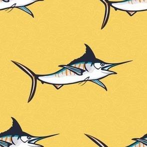Yellow backdrop marlin repeat