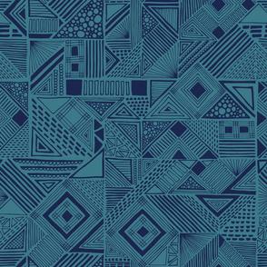 modern geometric blue