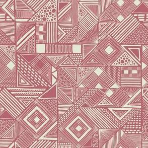 modern geometric pink and white
