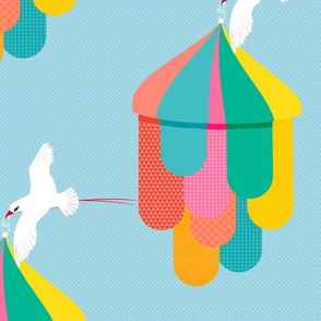 Circus Tent with Birds