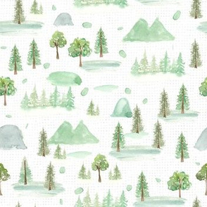 Forest Trees white texture