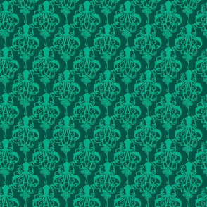 Squid Damask Mint - Small Scale