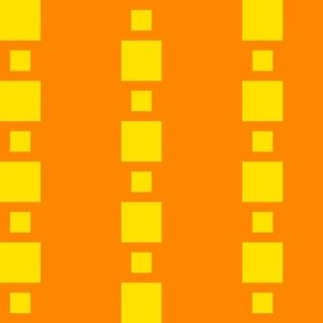 JP36  - Large - Floating Check Stripes in Sunny Yellow and Bright Orange