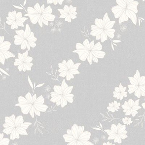 Linen Floral in Heather Gray