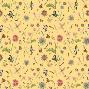 quilt square meadow yellow