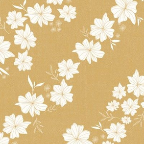 Linen Floral in Mustard Yellow