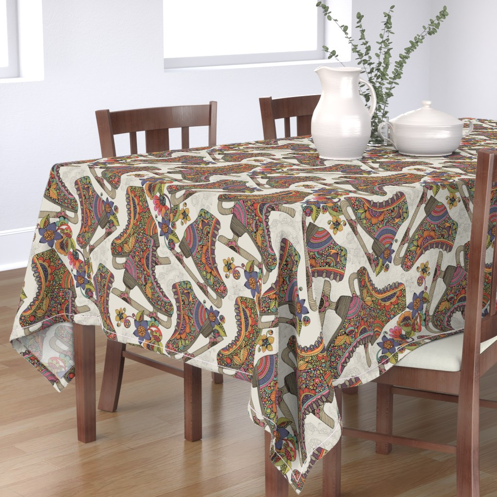 Bantam Rectangular Tablecloth featuring Let's skate by valentinaharper