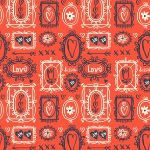 Valentine Frames ~ Red