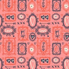 Valentine Frames ~ Pink
