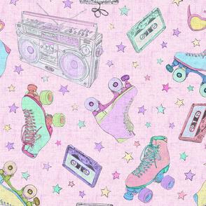 Pink Roller Disco 70s