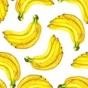Bananas watercolor pattern
