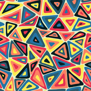 Colorful triangles primary colors