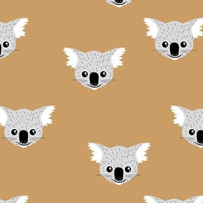 Little kawaii Australian koala bear baby friends outback animals for kids cinnamon ochre gray