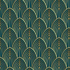 art deco arches teal (Smaller Scale)