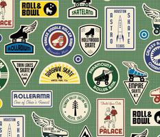 All Skate Vintage Roller Rink Stickers