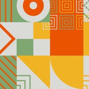 Bauhaus block party - citrus small