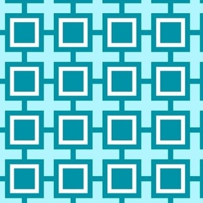Geometric Mint Square