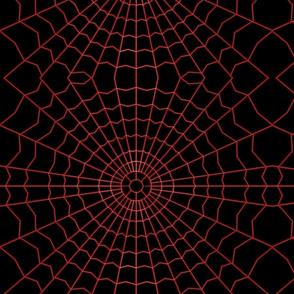 New Dark red spider web