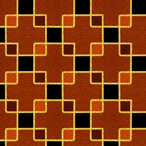 Gold Foil Boxes in Copper Tile