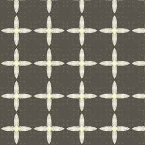 Four Petal Squares M+M Ash by Friztin